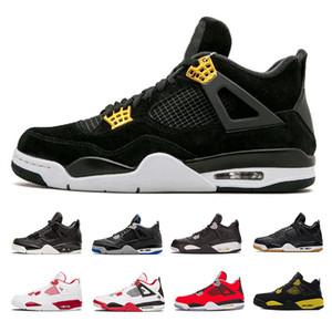 2019 4 أحذية كرة السلة 4S الرجال بيور رويالتي أسمنت أسود ولدت النار الأحمر المرأة الاحذية أحذية رياضية الحجم 36-47