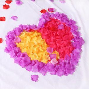 120pcs Simulation Rose Silk Flower Petals for Wedding Decoration Party Marriage Layout Fake Petal Valentine's Day Romantic Petal