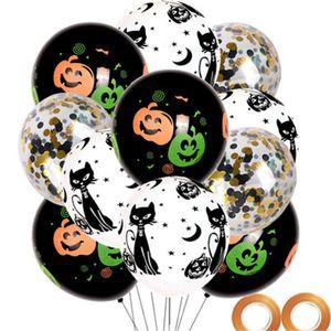 Decorazione di Halloween Palloncino in lattice Partito Giochi per bambini Disposizione Parola Palloncini per feste Set Zucca Stampa Festival Vendita calda 7 9wjH1