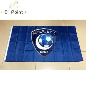 Флаг Саудовской Аравии SPL Аль-Хилал Saudi FC * 3 фута 5 футов (150см * 90см) Флаг Баннер украшение летающий сада домой