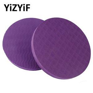 1 paio rotonda Yoga Mats Mini Knee Pad Cuscino da polso gomito Mat portatile Fitness Gym Plank esercitazione di allenamento cuscino protettivo