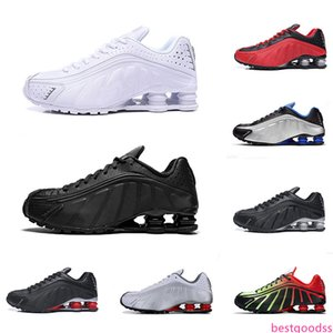 Triple Black R4 OG Men Running Shoes White Grey Silver Blue Orange Mens Sneakers Trainer Sports Size 40-46