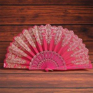 Estilo chinês Ventilador de Mão Gilding Flor cor Dobrável Dobrável Dobrável Espanha Venda Direta Da Fábrica de Artefato de Moda Popular 2 6kf p1