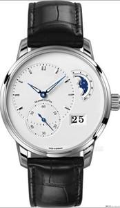40MM TZF лучшее качество автоматические часы мужчин наручные часы бизнес случайный часы водонепроницаемые часы германии ПАНО MATIC Lunar 1-90-02 cal.90-02