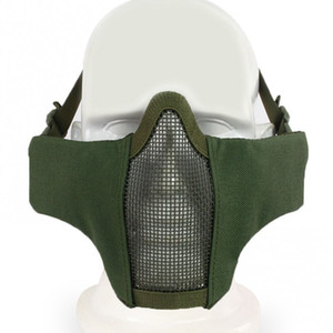New Tactical Airsoft Tactical PDW Half Face Mask Metal Mesh Skull Protective Army Wargame Hunting Accessories Paintball Masks