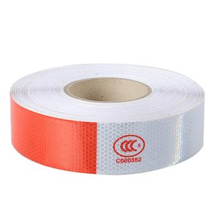LOONFUNG LF168 5CMx30M Reflective Strips Tape Trailer Safety Warning Reflective Stickers for Car Trunk Motor Bike