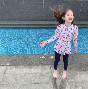 QcgWK Лето 2020 Shan девушка солнцезащитный Вишневый прекрасный раскол лето 2020 клубники Shan девушка солнцезащитный крем Вишневый купальник брюки Клубничный тро