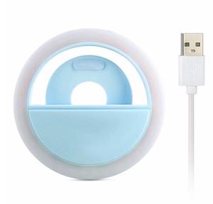 Selfie LED Sefie Flash annulaire Objectif Flash Round Téléphone mobile Fill Light Photographie Fill Light Can clip pour iPhone X XR Samsung P30