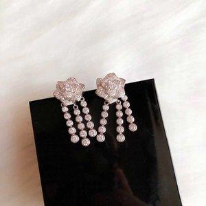 Womens Designer Earrings Rose Diamond Tassel Earrings S925 Sterling Silver Classic Dangle Earrings Fine Jewelry Lady Gifts