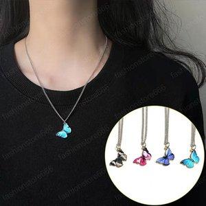 Gioielli Girocollo Collana d'acciaio di titanio collane farfalla del progettista modo delle donne Ciondolo fantasia colorata Hip Hop collare per le ragazze