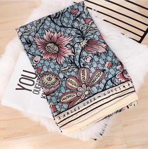 Xin regalo del diseño de la bufanda de lujo de la marca famosa ms de diseño bufanda de alta calidad 100% del tamaño pañuelo de seda 180x90cm entrega gratuita 04