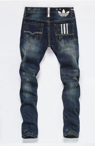 venda quente Jeans Men afligido dos homens de Ripped Skinny Jean Moda Jeans Mens Magro Motorcycle Causal Mens Denim Pants Hip Hop Jeans