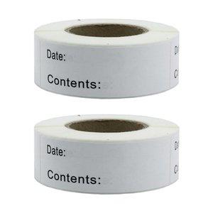 2ST 250x Blank White Food Storage Etiketten Kühl-Gefrierkombination Adhesive Aufkleber