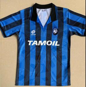 Top 1991-1992 Atalanta retro CANIGGIA Stromberg PAULINO CAMISETAS de futbol camisetas de los kits uniforme del fútbol del jersey de fútbol calidad de Tailandia