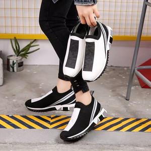 moda di lusso Sorrento scarpa da tennis mens delle donne del progettista Tessuto Elasticizzato Jersey Slip-on Sneaker Lady bicolore in gomma Micro Sole Casual Shoes