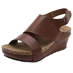 shoes women new fashion sandals casual flat Womens Comfortable Platformed Wedges Open Toe Adjustable Ankle Roman Sandals