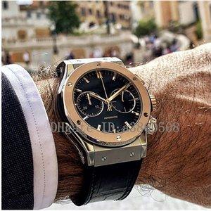 Strap Top Rubber Mens relógios de alta qualidade Fashion Desportivo Japão VK Quartz Chronograph Watch, montres pour hommes, orologio di lusso