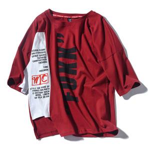 2019 estate di modo Gosha Rubchinskiy T-shirt Skateboard Hip Hop High Street divertente magliette degli uomini 100% cotone Top Tee Kpop T200219