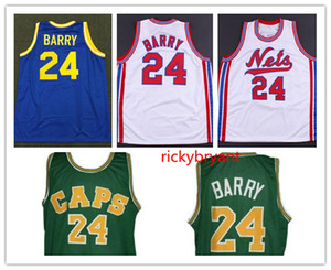 Collège de basket-ball de la NCAA rétro Rick 24 Barry Washington Caps Aba maillot de maillot cousu broderie personnalisé grande taille S-5XL