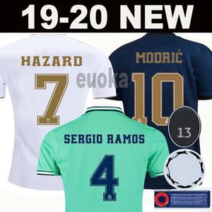 Maillots de football du Real Madrid 19 20 HAZARD MILITAO camiseta 2019 2020 VINICIUS maillot de foot hommes + kit enfant enfants troisième de la soccer jersey