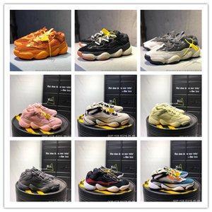 2018 500 رخيصة فأر الصحراء أحمر الخدود المساعدة الأصفر ريترو أبي الرياضة الاحذية النساء الرجال المدربين كاني ويست Chaussures حذاء مصمم