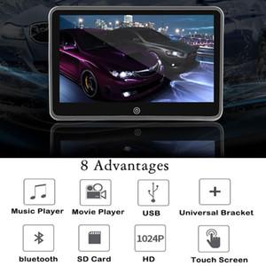 "10-1 "" تلقائي متعدد الوسائط MP4 MP5 مشغل الفيديو Headrest Video Car Monitor TFT HD LCD Hd Touch Screen Bluetooth Headrest Monitor Ultrathin"