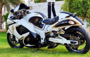 Iniezione Kit stampo carenatura per Suzuki Hayabusa GSX1300R 08 09 10 11-14 carenature oro bianco GSXR1300 2008-2014 OT06