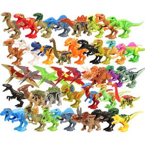 Hot Jurassic World Building Blocks Dinosaurs Figure Mattoni D-rex Pterosauria Model Set Giocattoli per bambini Juguetes Animali compatibili