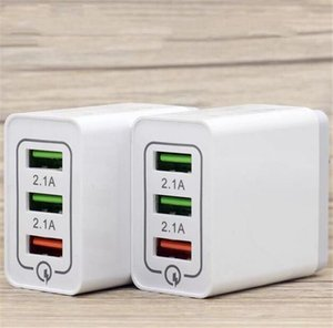 QC3. 0 fast 3 Usb Port Quick Charge Us Eu 2.1 A Ac home travel wall charger адаптер питания для iphone samsung