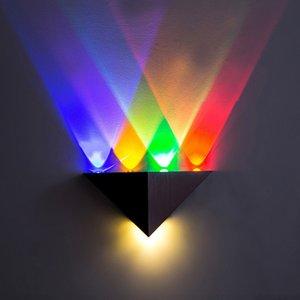 قاد الحديثة الجدار مصباح 5W الألومنيوم الخفيفة وول المثلث لغرفة نوم الرئيسية الإضاءة ومينير الحمام ضوء الثابت الجدار الشمعدان