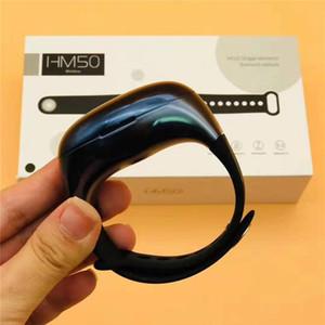 HM50 TWS auriculares ergonómicos rastreador de alta fidelidad Bluetooth 5.0 Auriculares Portátil Pulsera Inteligente Auricular Estéreo Inalámbrico 2in1 Reloj Deportivo