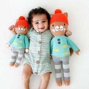 Pudcoco Infant Baby Boy Девушка Осень Хлопок Одежда с длинным рукавом полоса Кнопка Ромпер Комбинезон Outfit
