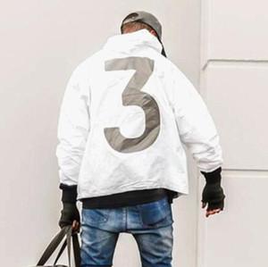 Top Venda alta qualidade Mens KANYE Jacket Hip Hop Windbreaker designer de moda jaquetas Brasão Homens Mulheres Streetwear Casacos
