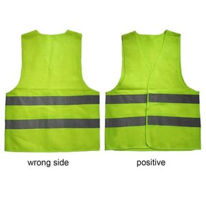 Reflective Warning Vest Working Clothes High Visibility Day Night Protective Vest For Running Cycling Warning Safety vest DLH361