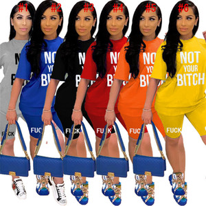Women Tracksuit Designer Letters Short Sleeve T Shirt Shorts Set Candy Color Brand Two Piece Outfits Summer Luxury Sports Suit S-XXL D52816