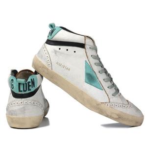 Italia Marca multicolor talón de oro Superstar Gooses diseñador zapatillas de deporte Hombres Mujeres blanco clásico Do de edad sucios Zapatos Casual Tamaño US5-11
