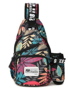 Tide Maple Leaf Printing Breast Pack Bag Men One Shoulder Slant 3 Colors 2 Styles spring autumn season