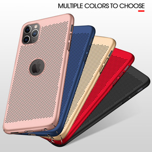 Wholesale Heat Dissipation Breathable Cooling Case For iPhone 11 Pro Max 7 8 6 6S Plus XS MAX X XR SE 2020 Ultra-thin Hard PC Full Cover
