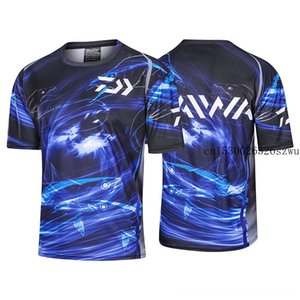 DAIWA Yaz Clothings Kısa Kollu Atletik Açık Kıyafet Balıkçılık Tshirt Doğa Sporları Bisiklet Siyah Pamuk Beyzbol Balıkçılık Tops Wear