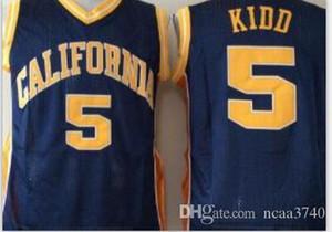 Personalizado hombres jóvenes mujeres Vintage # 5 Jason Kidd California Golden Berass baloncesto Jersey tamaño S-4XL o personalizado cualquier nombre o número jersey