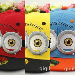 Neue Jungen und Mädchen Günstlinge bestickten Doppel-Augen Kappe Baseball Kappe capFlat Baseball caphip flache Außen Hut Student Hut hüpfen