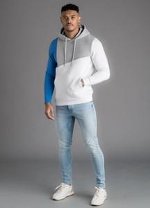Мужская Мода Бренд Лоскутное Пуловеры Роскошные Контрастные Цвета Толстовки С Длинным Рукавом Печати Дизайнер Новый Стиль Sweatershirt 2020 Горячие Продажи