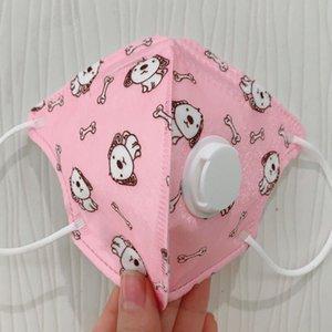 5 katman Karikatür güzel Çift koruma Yüz Maskeleri Filtre nefes Vana yeniden kullanılabilir toz geçirmez Çocuklar rahat Maske PM2.5 duman