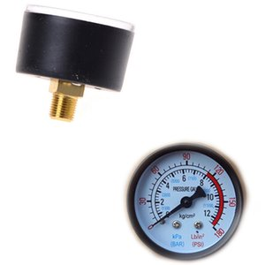 Cheap Gauges 1pc 42*40mm Air Compressor Pneumatic Hydraulic Fluid Pressure Gauge 0-12Bar   0-180PSI Pressure Gauges