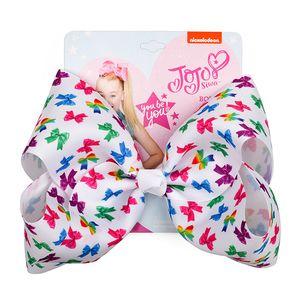 JOJO Rainbow Hair Bows 8 Inches Plaid JOJO SIWA Hair Clips Accessories For Kids Children Fashion Colorful Large Baby Girls Ribbon Headwear