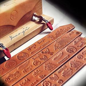 Free Ship Customized логотипа Кожа марки Медь Латунь Вуд бумага кожа Хлеб Cake Die Отопление Emboss Плесень Письмо Metal Stamp Марка железа кожа