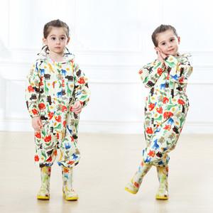 Bambini Impermeabile Poncho indumenti impermeabili in poliestere Kindergarten esterna impermeabile Il cappotto di pioggia di trasporto