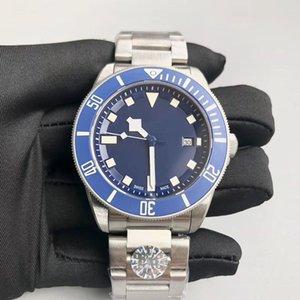 2019 высокое качество новый роскошный погружение мужские часы автоматический механический сапфир складная пряжка часы водонепроницаемый 50 мм супер синий светящиеся часы
