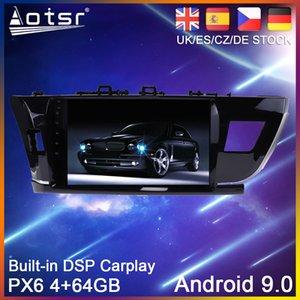 Android 9.0 estéreo PX6 coches reproductor de DVD GPS para Toyota Corolla 2014-2017 Auto Radio Multimedia unidad central