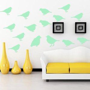 Birds Luminous Switch Sticker Cartoon Wall Sticker Glow In The Dark Decor Decals for Bedroom Bed Furniture Wardrobe Laptop DIY
